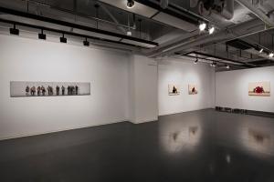 Weavings, vue partielle de l'exposition, 2014